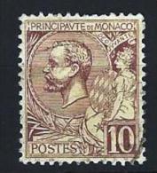 "Monaco YT 14 "" Prince Albert 1er 10c. Brun "" 1891-94 Oblitéré - Monaco"