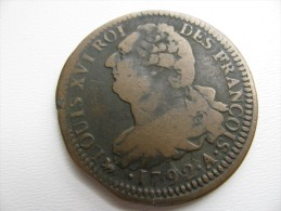 2 Sols 1792 A  : Flan De Diamêtre 35 Mm Poids 18,64 G? - 1789 – 1795 Monedas Constitucionales