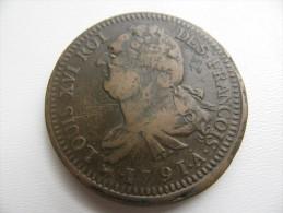 2 Sols 1791 A  : Flan De Diamêtre 35 Mm Poids 31,36 G? - 1789 – 1795 Monedas Constitucionales