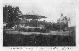 CPA - SAINT-JUNIEN (87) - Aspect du Kiosque � Musique et de la Place Lac�te en 1900