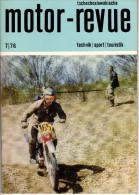 Tschékoslovaquie - Tschechoslowakische - MOTOR-REVUE - Juillet 1976 - Technik, Sport, TOURISTIK - Boeken, Tijdschriften, Stripverhalen