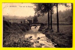 ROISEUX =  VUE SUR LE HOYOUX  MARCHIN = SUR ROISEU ? = Env BARSE-LEZ-HUY - MODAVE & LIEGE - Chateau Ferme A557 - Marchin