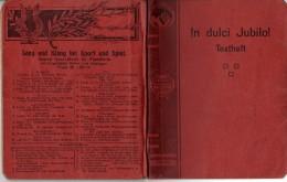 IN  DULCI JUBILO - 313 - Volks- Und Kommerslieder - Texte - Livres, BD, Revues