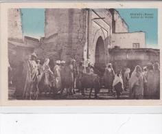 JUDAICA . MAROC . MEKNES . Entrée Du Mellah (Quartier Juif) + Timbre Aviation 25cts Bleu - Judaisme