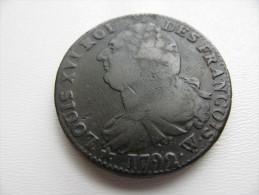 2 Sols 1792 W :  Bel état - 1789 – 1795 Monedas Constitucionales