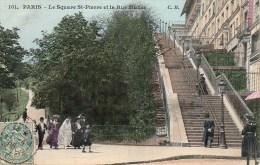 75 PARIS XVIIIe  Le Square St-Pierre Et La Rue Muller - Arrondissement: 18