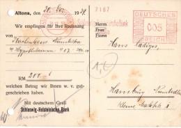 Allemagne- Banque - Reçu Bancaire Allemand Hambourg Altona Le 30.12.1939 - - Altona