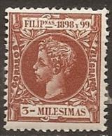 SPANISH PHILIPPINES FILIPINAS 1898 Ed. 133 MNH - Filippine