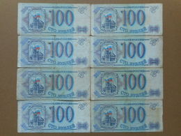 Russia 100 Rubles 1993 (Lot Of 8 Banknotes) - Russie