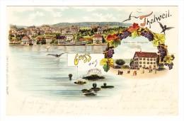 AK ZH Gruss Aus Thalweil Litho Carl Künzli  Ges. 15.9.1900 - ZH Zurich