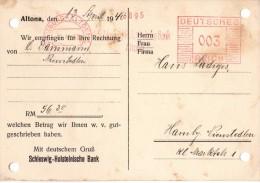 Allemagne- Banque - Reçu Bancaire Allemand Hambourg Altona Le 13.04.1940 - - Altona