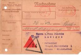 Allemagne- Banque - Mandat - Reçu Bancaire Allemand Hambourg Altona Le 05.09.1931 - Altona