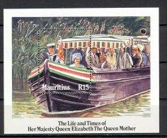 MAURICE 1985 YT  BF14  BATEAU ANNIVERSAIRE DE LA REINE ELIZABETH - Maurice (1968-...)