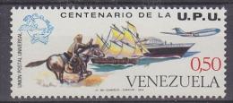 Venezuela 1974 UPU7/Ship, Airplane 1v ** Mnh (24616) - Venezuela