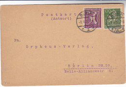 1922 Bonn GERMANY Stamps COVER (card) To Berlin - Allemagne