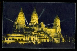 236 Angkor-Vat, Vue De Nuit / Blanche, Archs-Jacopozzi / Postcard Circulated / Front/back Scan - Cambodia