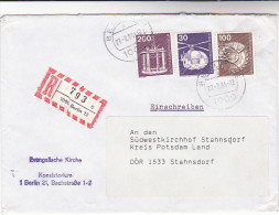 1984 WEST BERLIN Germany REGISTERED COVER  Multi Stamps  OIL RIG HELICOPTER Etc Energy Minerals - Oil