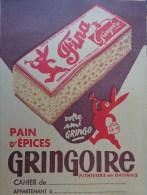 PROTEGE CAHIER GRINGOIRE PAIN D'EPICES - Pain D'épices