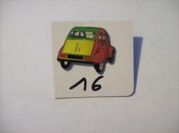 PIN´S -  CITROEN - La 2 Ch -rouge Et Jaune Et Toit Vert      (16) Voir Photo - Citroën