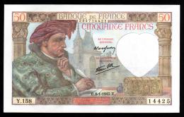 50F Jacques Coeur 08.01.42  NEUF  Fayette 19.18 - 1871-1952 Frühe Francs Des 20. Jh.