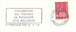 Cover Flamme Meter Courbevoie Ses Piscines, Sa Patinoire, Son Solarium 12/3/1975 - Kuurwezen