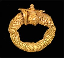 India  Gold Hair Ring Gupta Period, Gujarat - Archäologie