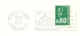 Cover Flamme Meter  Lagny Sur Marne 6/1/1978 Eglise Du XIII  Musee - Kerken En Kathedralen