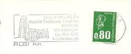Cover Flamme Meter  Albi Ville D'art Musee Toulouse Lautrec Festivals De Musique Du Film - Musea