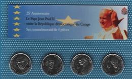 CONGO LOT 4x 1 FRANC 2004  (Jean Paul II)  Pope John Paul II´s Visit   UNC - Congo (Democratic Republic 1998)