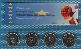 CONGO LOT 4x 1 FRANC 2004  (Jean Paul II)  Pope John Paul II's Visit   UNC - Congo (Democratic Republic 1998)