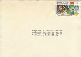 Cuba 1980 Matanzas Intercosmos Space Cuban Astronaut Arnaldo Tamayo Russia Cover - Brieven & Documenten