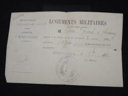 FRANCE - Militaire - Vieux Papier - Détaillons Petite Archive - à Voir - Lot P8887 - Documents