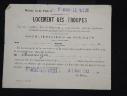 FRANCE - Militaire - Vieux Papier - Détaillons Petite Archive - à Voir - Lot P8888 - Documents