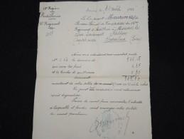 FRANCE - Militaire - Vieux Papier - Détaillons Petite Archive - à Voir - Lot P8894 - Documents