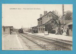 CPA Chemin De Fer Cheminot Arrivée Du Train En Gare De CHAMBLY 60 - France