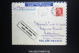 France: Premier Liasions Aerienne  Paris Cayenne  1949 - Lettres & Documents