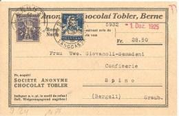 Schweiz, Zu 160 + 157, Nachnahme, Rollenmarke, Coil, Roulettes, Poko, Perfin J 24, Bern 4.1.1926, Chocolat, Siehe Scans! - Covers & Documents