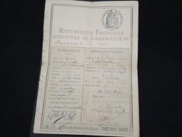 FRANCE - Permis De Chasse De 1906 De Montbrisson - à Voir - Lot P8897 - Vieux Papiers