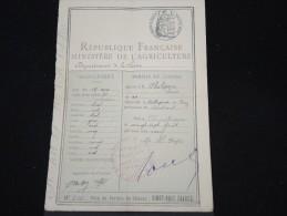 FRANCE - Permis De Chasse De 1909 De Montbrisson - à Voir - Lot P8898 - Collections