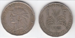**** GUADELOUPE - 1 FRANC 1921 **** EN ACHAT IMMEDIAT !!! - Antilles