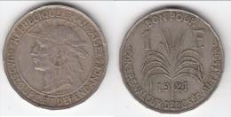 **** GUADELOUPE - 1 FRANC 1921 **** EN ACHAT IMMEDIAT !!! - Antillas
