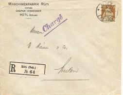 Schweiz, Zu 110, Rollenmarke, Coil, Roulettes, Poko, Ohne Perfin!, Rüti 1.8.1919, Charge, Siehe Scans! - Covers & Documents