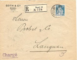 Schweiz, Zu 156, Rollenmarke, Coil, Roulettes, Poko, Perfin G 12, Basel 4.11.1921, Charge, Siehe Scans! - Cartas