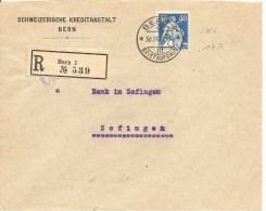 Schweiz, Zu 161, Rollenmarke, Coil, Roulettes, Poko, Perfin S 46, Bern 30.9.1922, Charge, Siehe Scans! - Cartas