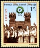Lithuania 2014 Mih. 1164 Music. Song Festival MNH ** - Lituania