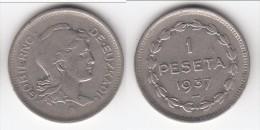 **** EUZKADI - ESPAGNE - SPAIN - 1 PESETA 1937 - LIBERTY **** EN ACHAT IMMEDIAT - Republican Location