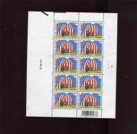 Belgie 2002 3071 EUROPA CEPT CIRCUS Plaatnummer 4 Met Curiositeit Extra Perforatie In Linkerrand - Hojas