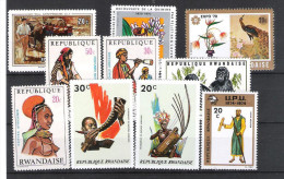 RWANDA:lot De 19 TP  Ttes époques 1969...1984 - Collections