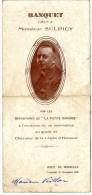 MENU  BANQUET OFFERT A MONSIEUR SULPICY PAR LES DEPOSITAIRES DE LA PETITE GIRONDE  HOTEL DE BORDEAUX 1930 - Menus