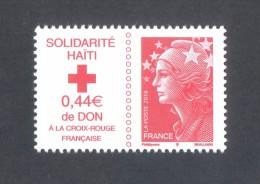 Marianne De Beaujard  -  Adhésif  - V F 1.00 € -Solidarité Haïti - 1 Timbre - 2008-13 Marianne De Beaujard